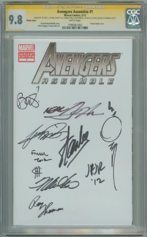 Avengers Assemble #1 Blank Variant CGC 9.8 Signature Series Signed x10 Stan Lee Romita Jr Thomas